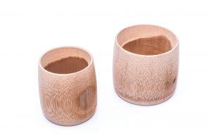 Dwa kubki bambusowe naturalne sklep