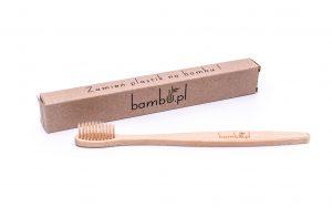 Szczoteczka bambusowa brązowa