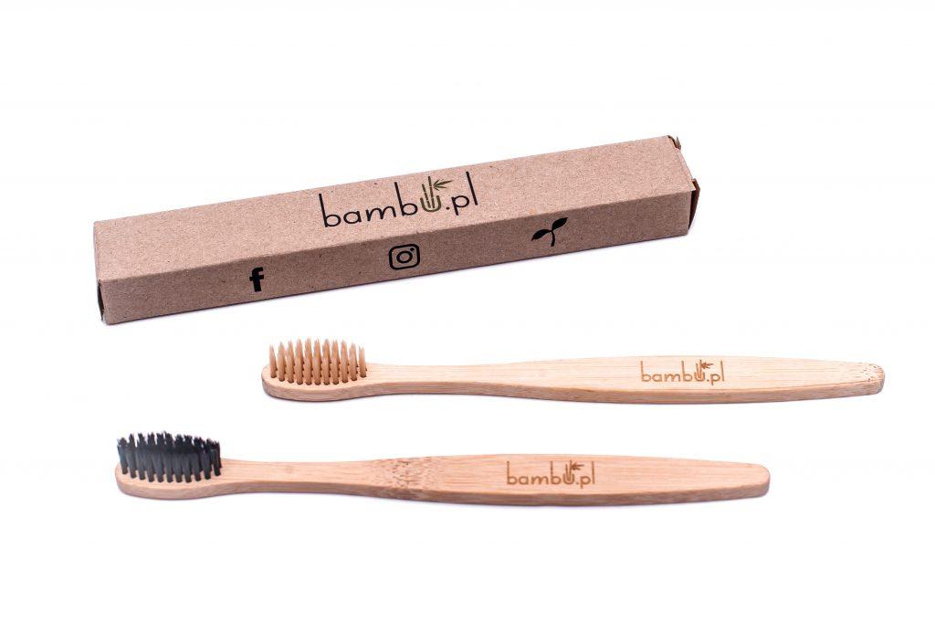 szczoteczki do zębów bambusowe w opakowaniu